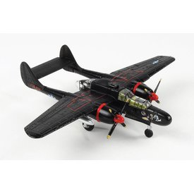 Air Force 1 Model Co. P61B Black Widow 548NFS USAAF Lady in the Dark Maj.Kendall Smithsonian Srs 1:144 with stand
