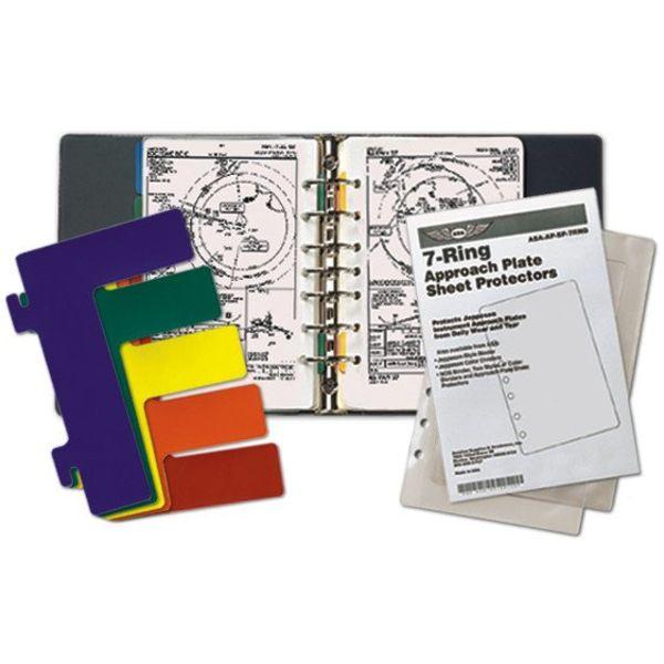ASA - Aviation Supplies & Academics 7-Ring Binder Kit (Jeppesen)