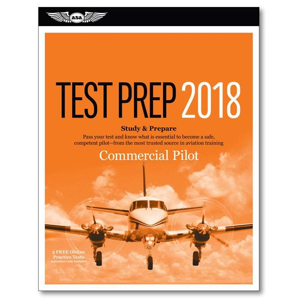 ASA - Aviation Supplies & Academics Commercial Test Preparation 2018