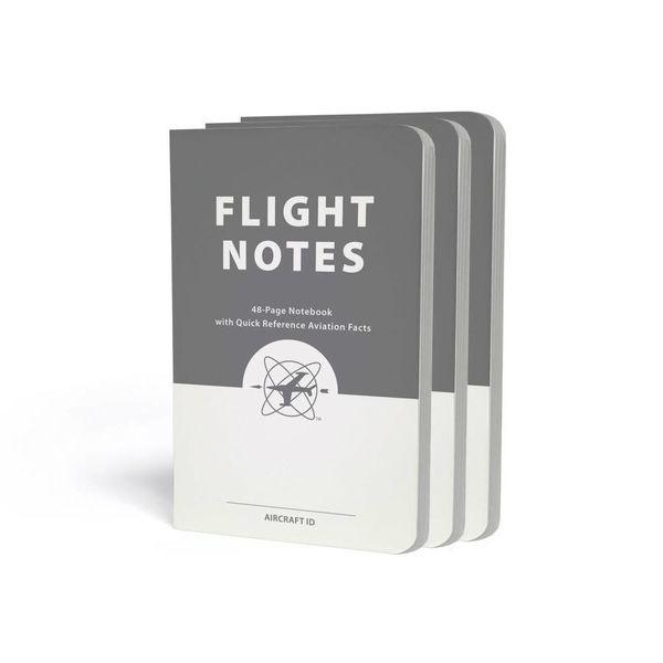 ASA - Aviation Supplies & Academics Flight Notes - 3 Pack 48 page notebook