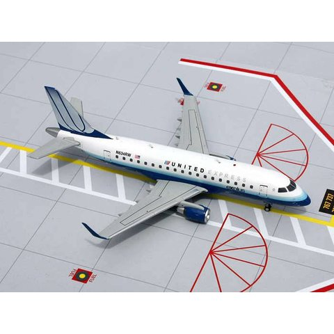 ERJ170 United Express 2003 Livery Blue Tulip N634RW 1:200 with stand