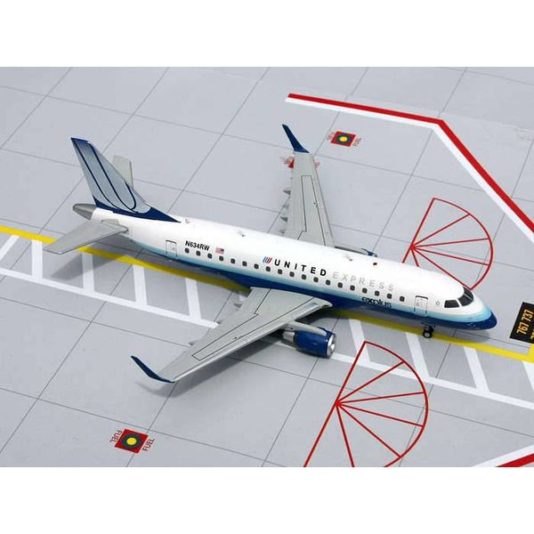 Gemini Jets ERJ170 United Express 2003 Livery Blue Tulip N634RW 1:200 with stand