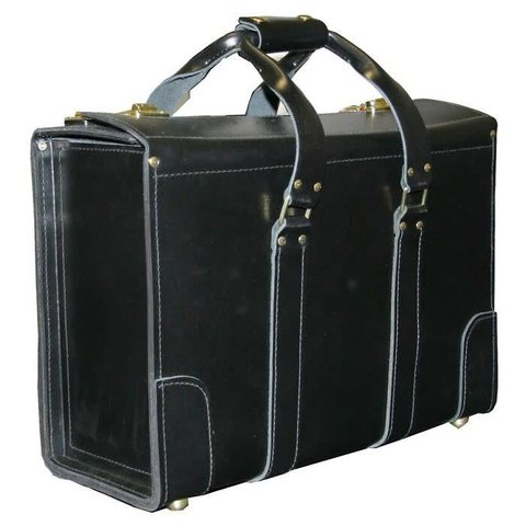 Leather Flight Case Small Double Strap Handle