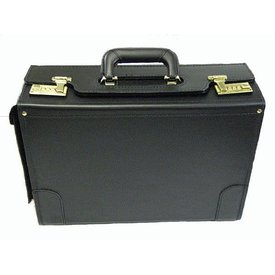 avworld.ca Leather Flight Case Medium Single Handle with End Pocket