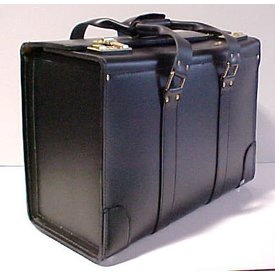 avworld.ca Leather Flight Case Large Double Strap