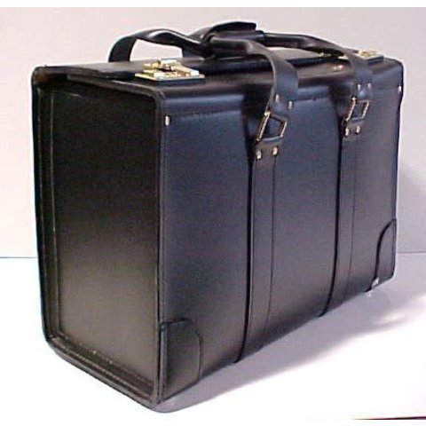 Leather Flight Case Large Double Strap