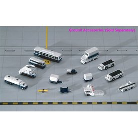 Gemini Jets Ground Accessories 14 Piece 1:400 (Bus, Airstairs, Tow Bar, Loaders, Carts, Cans, Fuel Truck)