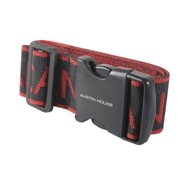 Austin House Luggage Strap 2'' X 76'' CANADA Black / Red