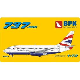 Big Planes Kits (BPK) B737-200 BRITISH AIRWAYS UNION 1:72 o/p used