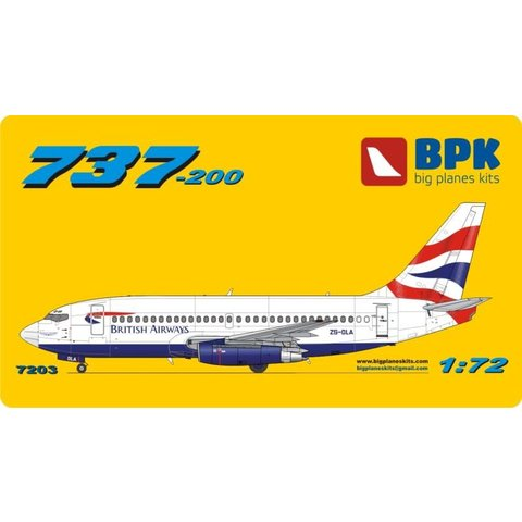 B737-200 BRITISH AIRWAYS UNION 1:72 o/p used