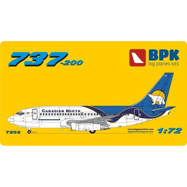 Big Planes Kits (BPK) B737-200 CANADIAN NORTH 1:72 with GRAVEL KIT