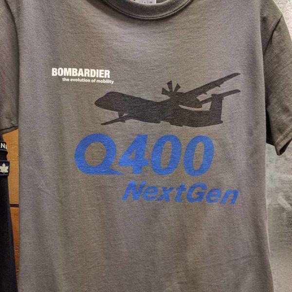 Bombardier Q400 NextGen T-shirt Grey