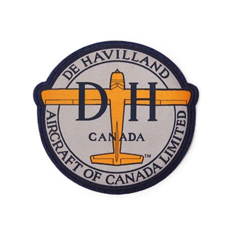 "PATCH deHavilland Canada Logo Round Small 3""x 2 3/4"""