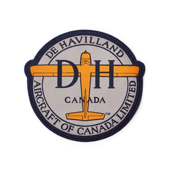 "Red Canoe Brands PATCH deHavilland Canada Logo Round Small 3""x 2 3/4"""