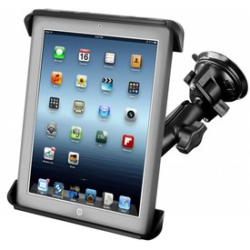 Ram Mounts Suction Mount for iPad 1-4 + More RAM® Tab-Tite™ Cradle
