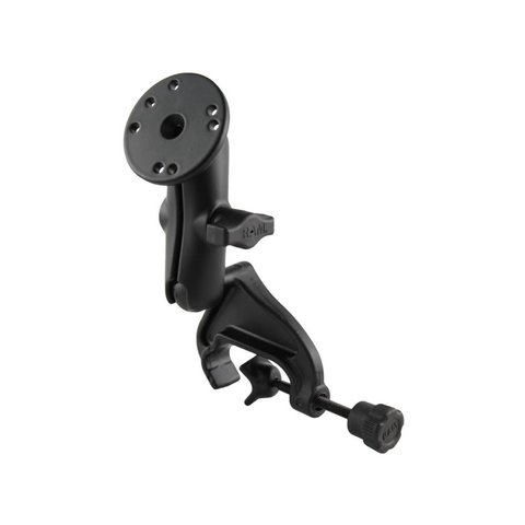 Base Yoke Clamp Double Ball Arm with Round Plate
