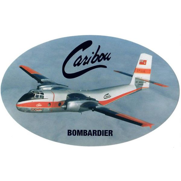 Bombardier DHC4 Caribou Oval Sticker 3 3/4'' X 6''