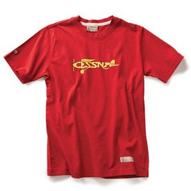 Red Canoe Brands Cessna Plane Logo Red T-Shirt