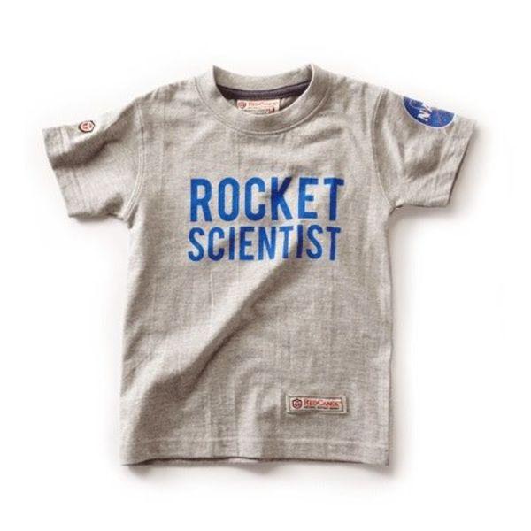 Red Canoe Brands NASA Rocket Scientist Grey Kids T-shirt