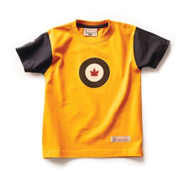 Red Canoe Brands RCAF Kid's T-Shirt Yellow