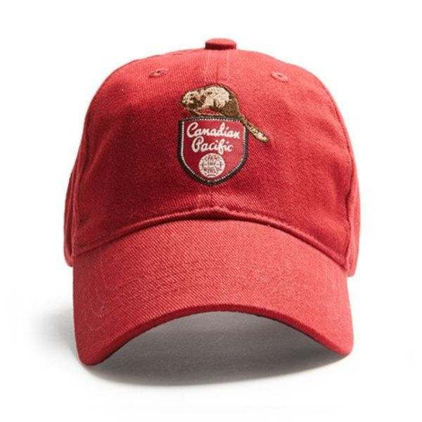 Red Canoe Brands Cap Canadian Pacific Beaver Red