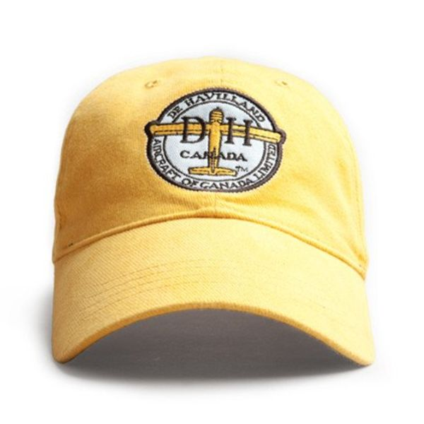 Red Canoe Brands CAP DeHavilland Aircraft of Canada Beaver Logo Burnt Yellow