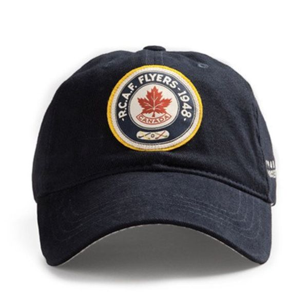 Red Canoe Brands Cap RCAF Flyers Hockey Team 1948 Olympics