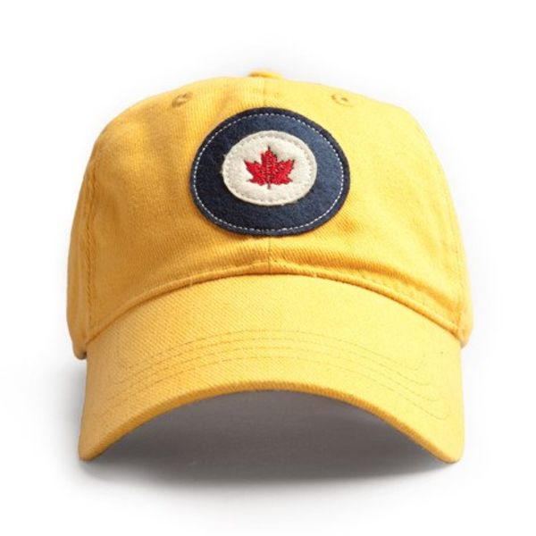 Red Canoe Brands Cap RCAF Roundel Burnt Yellow
