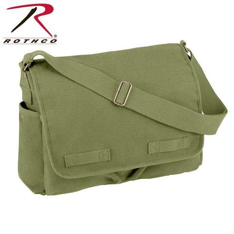 Vintage Messenger Bag Olive Drab