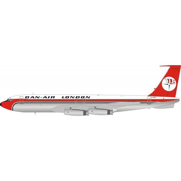 InFlight B707-300 Dan-Air London G-AYSL 1:200 With Stand