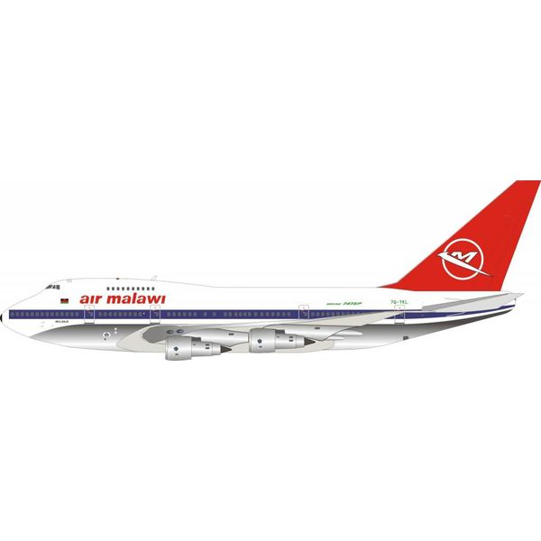 InFlight B747SP Air Malawi 7Q-YKL 1:200 Polished with stand