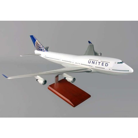 B747-400 United NC10 1:100 resin with stand