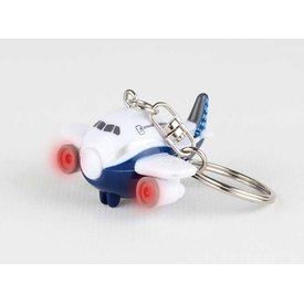 Daron WWT B787 Dreamliner Boeing House Livery Airplane Key Chain with Lights & Sounds