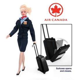 Daron WWT Air Canada Flight Attendant Doll with luggage and mini backpack