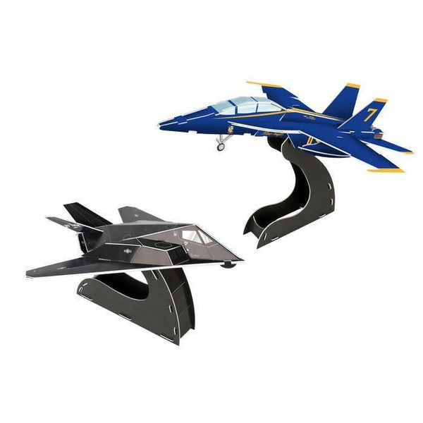 Daron WWT Blue Angels FA-18 Hornet / F117 Stealth 3D Puzzle 40 Pieces