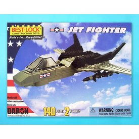 Best-Lock Construction Toys Jet Fighter 140 Piece Construction Toy 198 Pieces