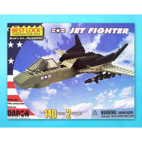 Jet Fighter 140 Piece Construction Toy 198 Pieces