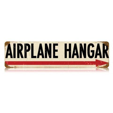 Airplane Hangar Metal Sign