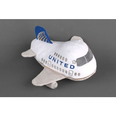 United Airlines Plush Toy with Sound Post Continental Merger