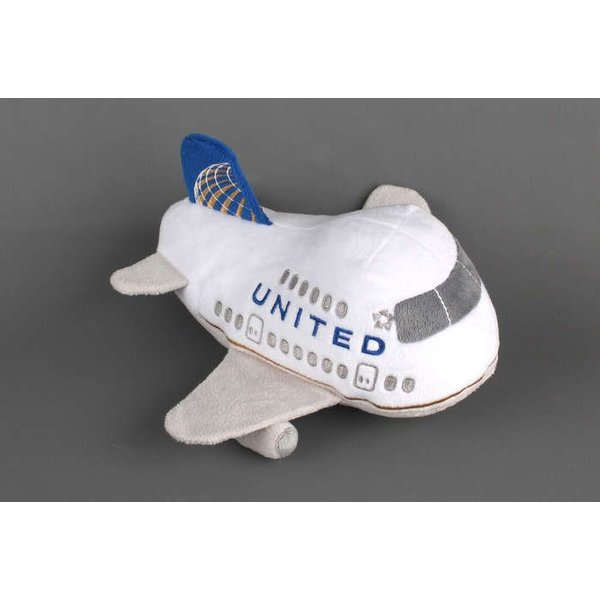 Daron WWT United Airlines Plush Toy with Sound Post Continental Merger