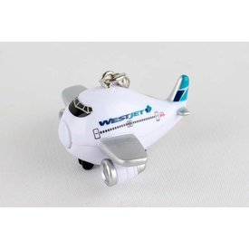 Daron WWT Westjet Airplane Keychain with Light & Sound