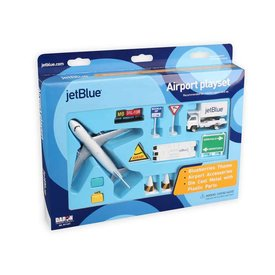 Daron WWT Jetblue A320 Airport Play Set 10 pieces