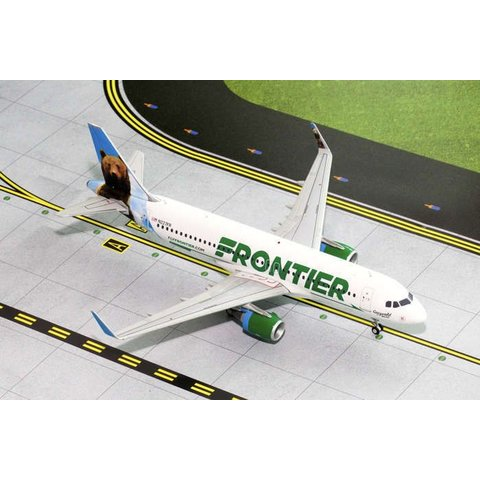 A320S Frontier New Livery  2014 Grizwald the Bear N227F 1:200 with stand**o/p**