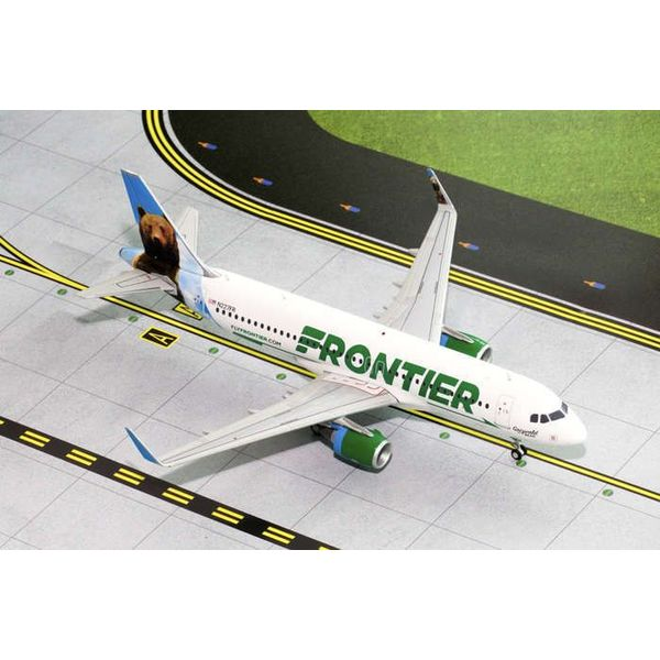 Gemini Jets A320S Frontier New Livery  2014 Grizwald the Bear N227F 1:200 with stand**o/p**