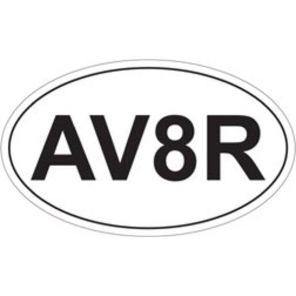 AV8R Oval Sticker