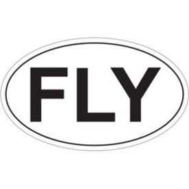 Fly Oval Sticker