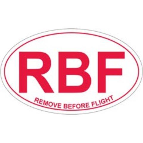 Remove Before Flight Oval Sticker