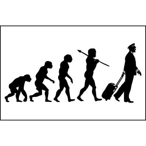 Sticker Evolution Of The Pilot