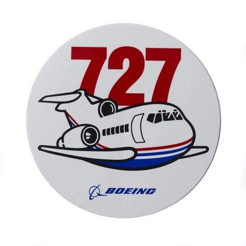 727 Pudgy Plane Sticker