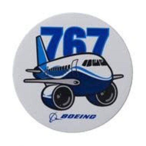 767 Pudgy Plane Sticker